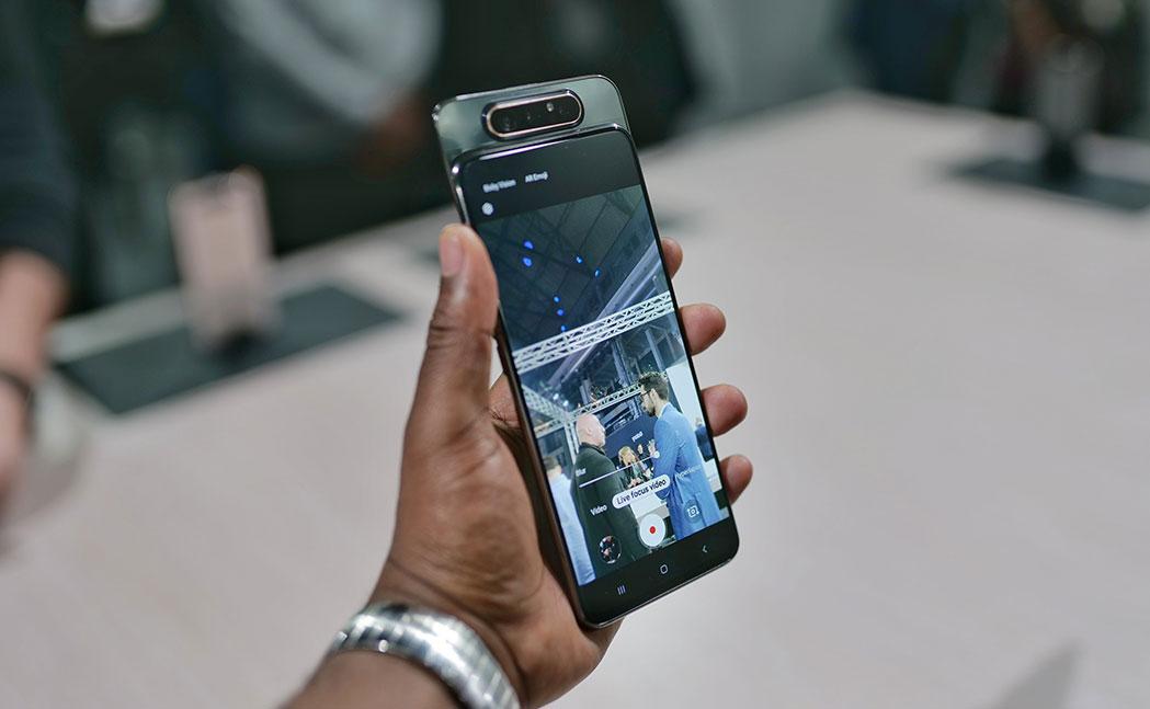 نمایشگر گوشی a80 سامسونگ