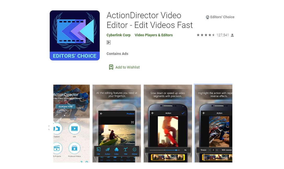بهترین اپلیکیشن های ویرایش فیلم اندروید - دانلود اپلیکیشن ActionDirector Video Editor