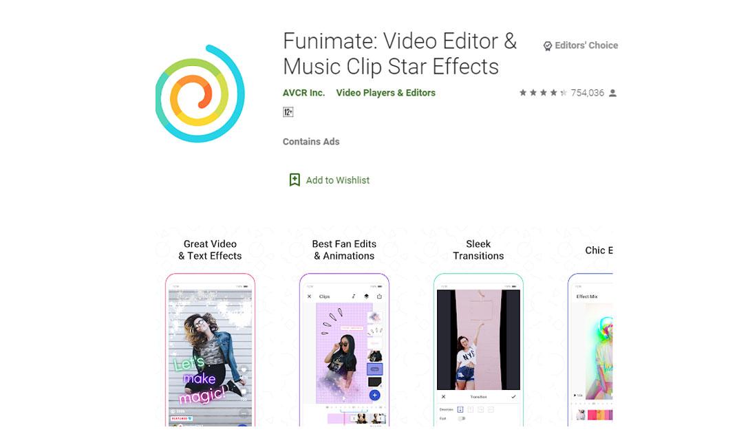 بهترین اپلیکیشن های ویرایش فیلم اندروید- دانلود اپلیکیشن Funimate Video Editor