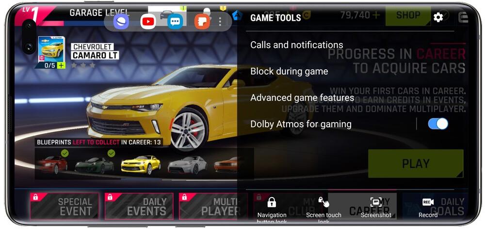 با game launcher عملکرد گیمینگ سامسونگ گلکسی s10 پلاس سریعتر است