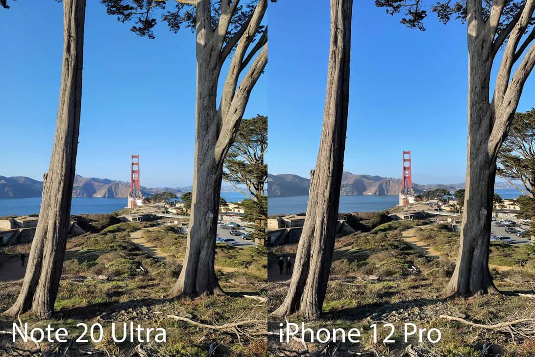 مقایسه دوربین iphone 12 pro با note 20 ultra